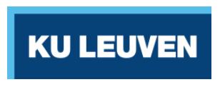 KU Leuven website